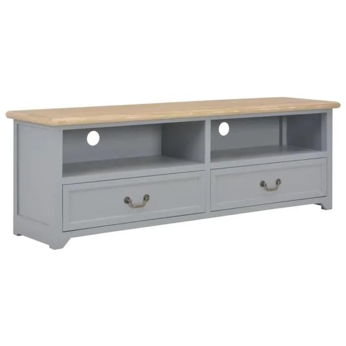 meuble tv gris 120x40x30 cm bois