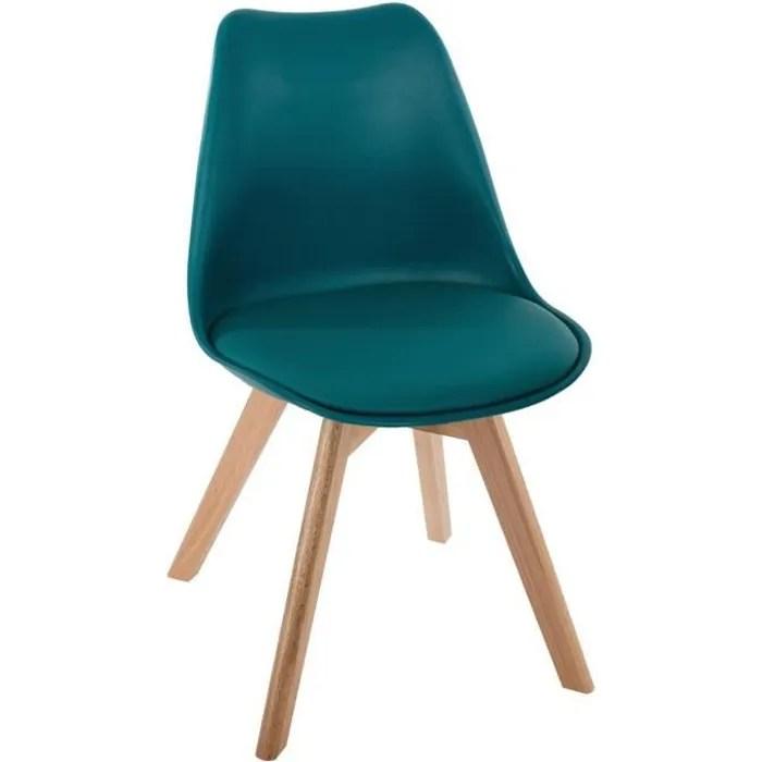 chaise salle a manger baya bleu canard atmosphera