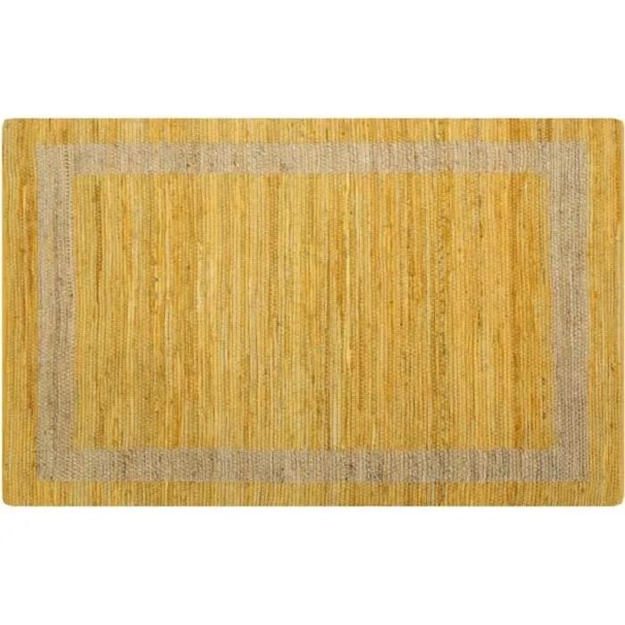 festnight tapis jute tresse tapis rectangulaire