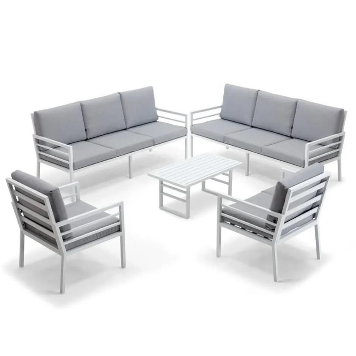 salon de jardin 8 places en aluminium