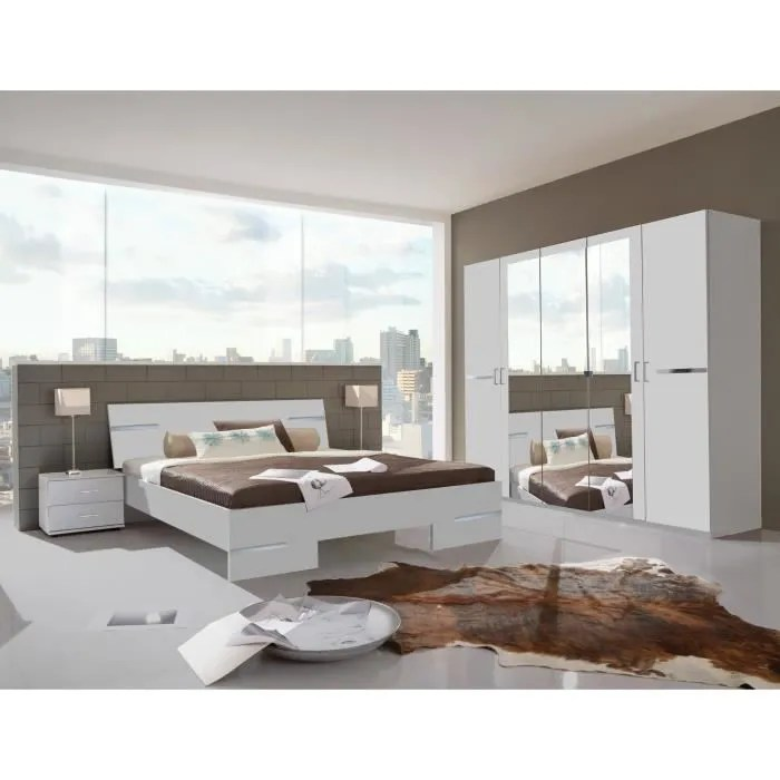 chambre adulte complete design blanc