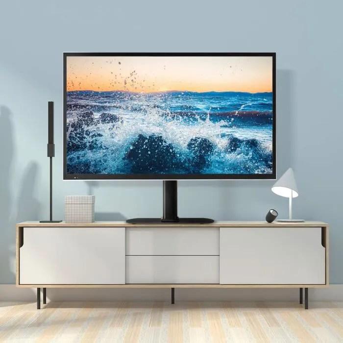 rfiver pied tv sur socle meuble tv