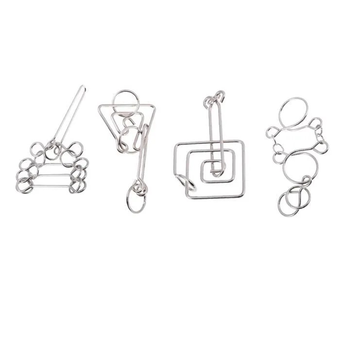 casse tete 4 pieces casse metal unlock