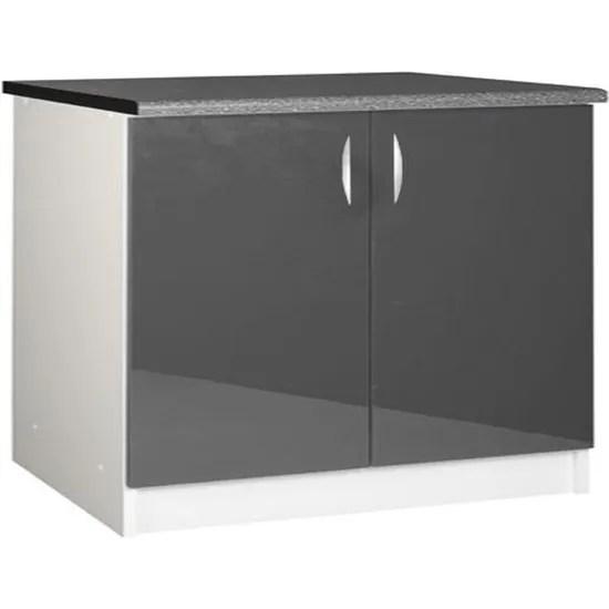 meuble cuisine bas 120 cm 2 portes oxane