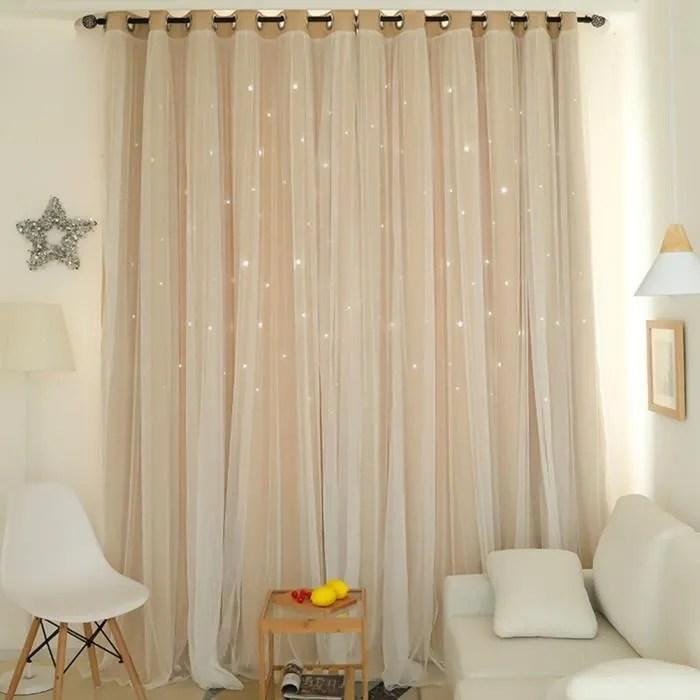 star blackout rideau rideau a double couche avec f