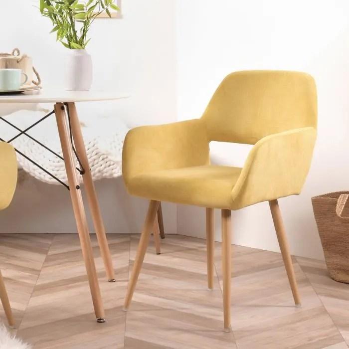 furnish1 fauteuil chaise tissu jaune pieds metal