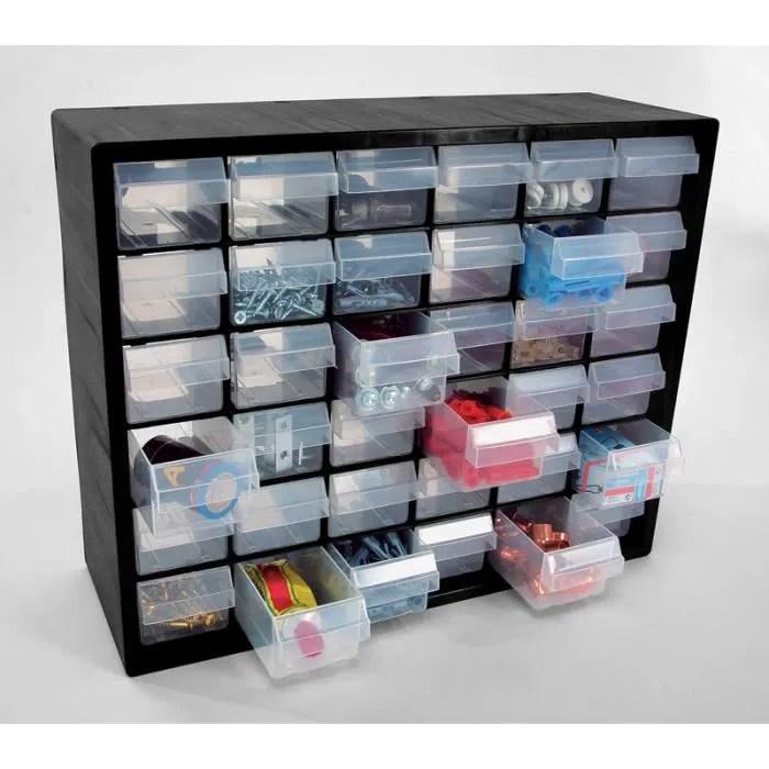 casier plastique 36 tiroirs raaco
