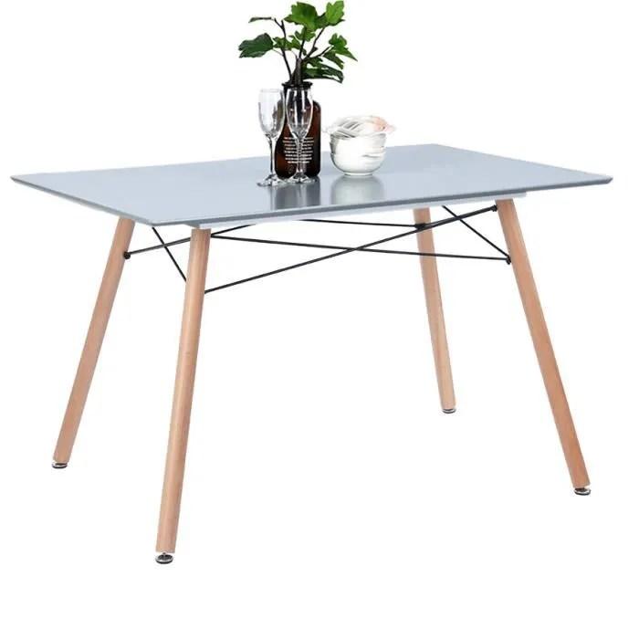 table salle a manger table a manger table de cuisine salon travail rectangle rectangulaire style scandinave gris 110x70x72cm