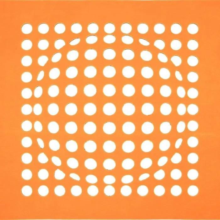 tapis carre sphere orange 170x170 par