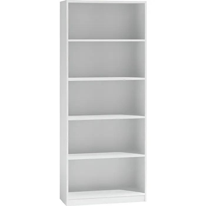 meuble bibliotheque blanc laque