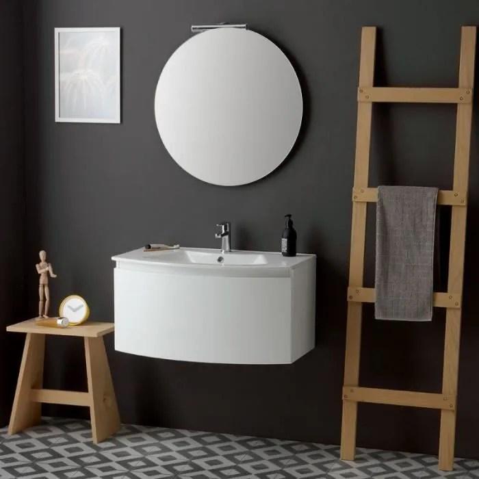 Armoire De Toilette Moderne Suspendue 82 Cm Blanc Miroir Rond Riva Achat Vente Colonne Armoire Sdb Armoire De Toilette Moderne Soldes Sur Cdiscount Des Le 20 Janvier Cdiscount