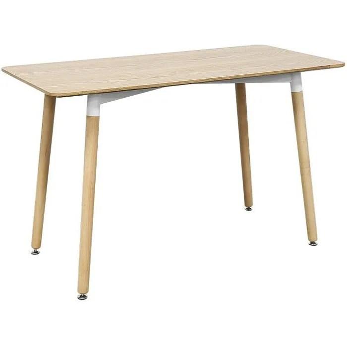 chene table a manger style scandinave pieds de table en bois l110cm