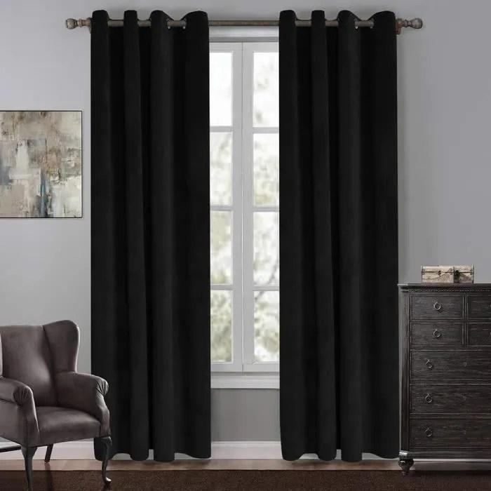 rideau occultant pour chambre a coucher rideaux super doux a oeillets pour salon traitements de fenetre isolant thermique 1