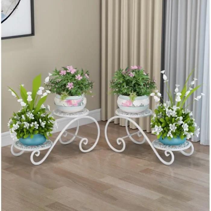 supports de pots de fleurs etagere a fleur en fer