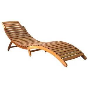 chaise longue transat bois