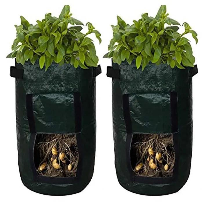 sacs de jardiniere de pommes de terre baignoire de jardin pour culture de legumes avec acces a rabat