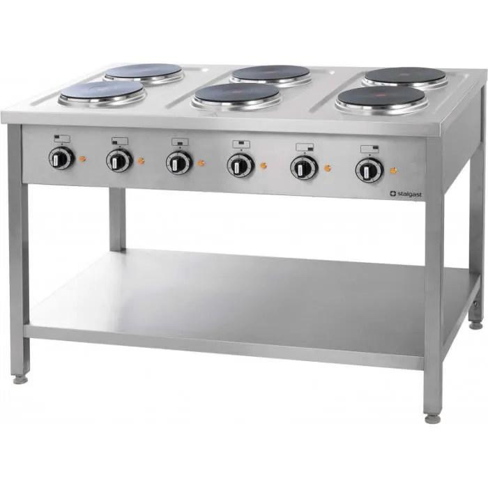 piano de cuisson electrique professionnel 6 plaques serie 700 stalgast 700