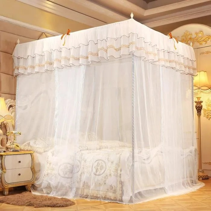 rideau de lit a baldaquin de luxe princesse a quat