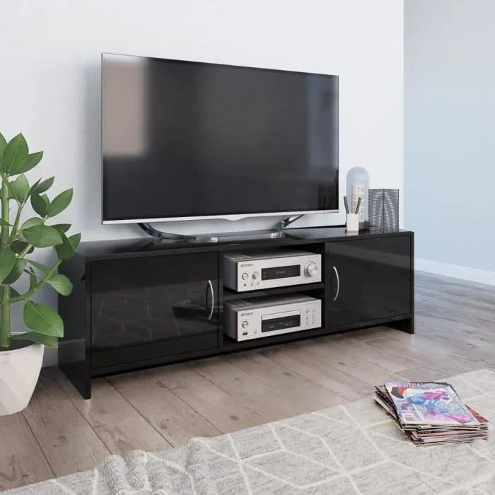 meuble tv banc tv meuble de salon moderne noir
