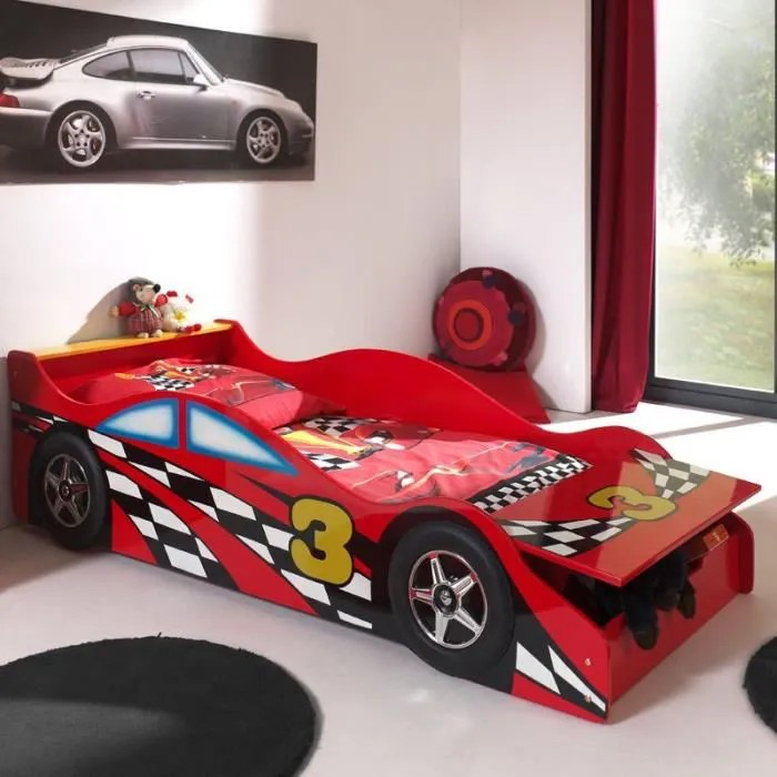 lit enfant voiture race rouge paris prix