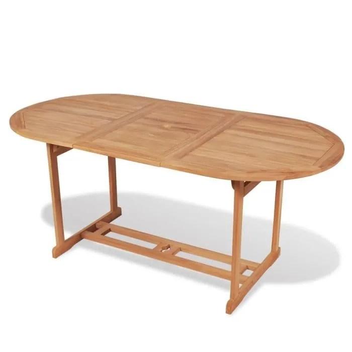 table de salle a manger jardin en teck table ovale