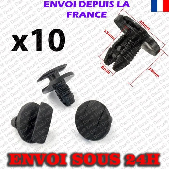 dax 10x clips agrafe plastique citroen 160926728