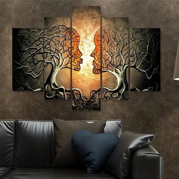 Neufu 5pcs Tableau Peinture A L Huile Toile Sans Cadre Amour Abstrait Art Sur Maison Decor Achat Vente Tableau Toile Cdiscount
