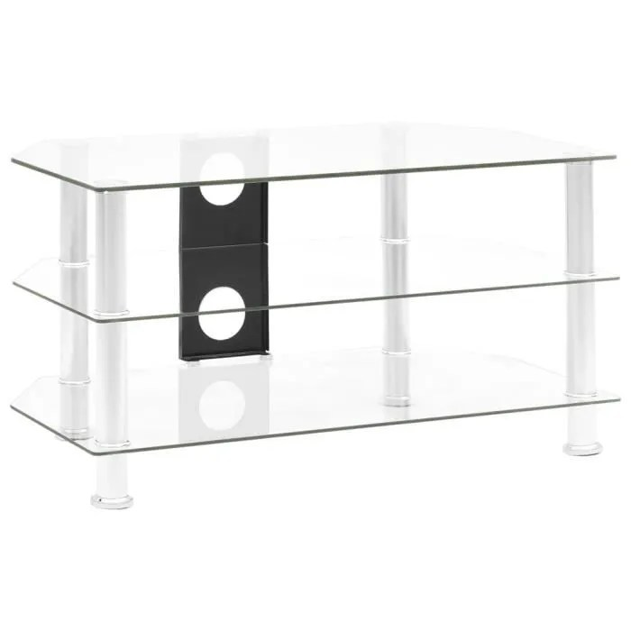 meuble chaine hifi verre
