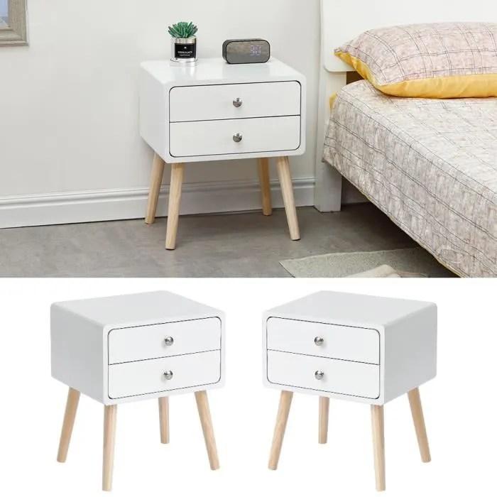 table de chevet scandinave table de nuit coiffeuse en bois de pin blanc