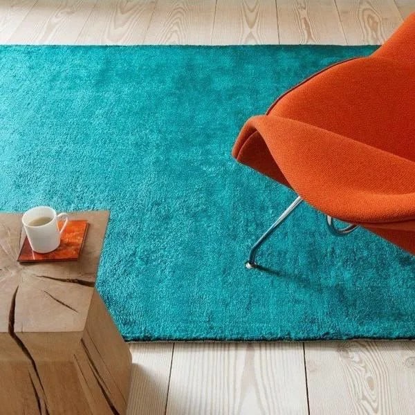 tapis uni dolce vert canard collection