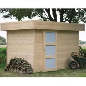 abri de jardin en bois 5 m2 toit plat