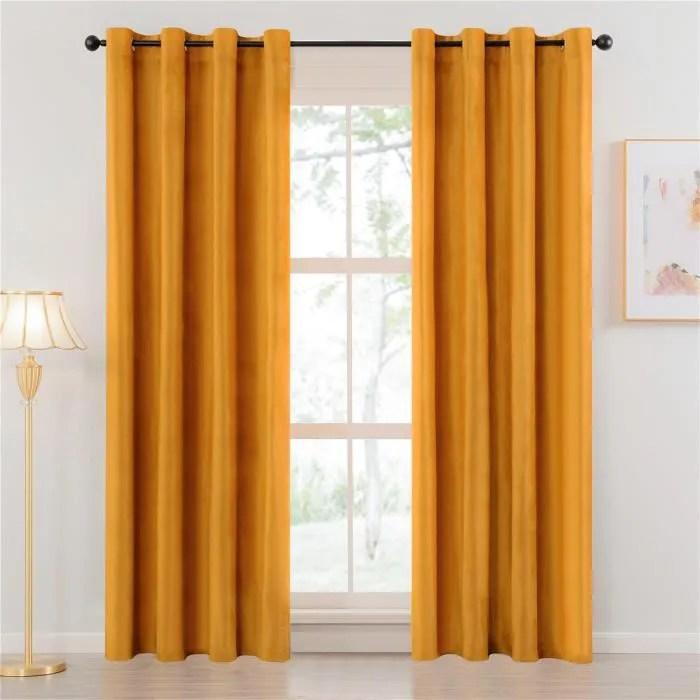 rideau chambre jaune