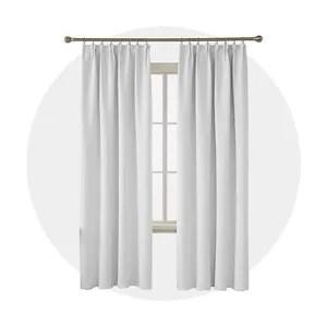 rideaux salon blanc