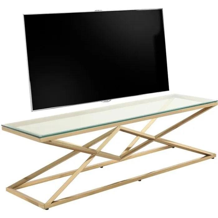 meuble tv design verre