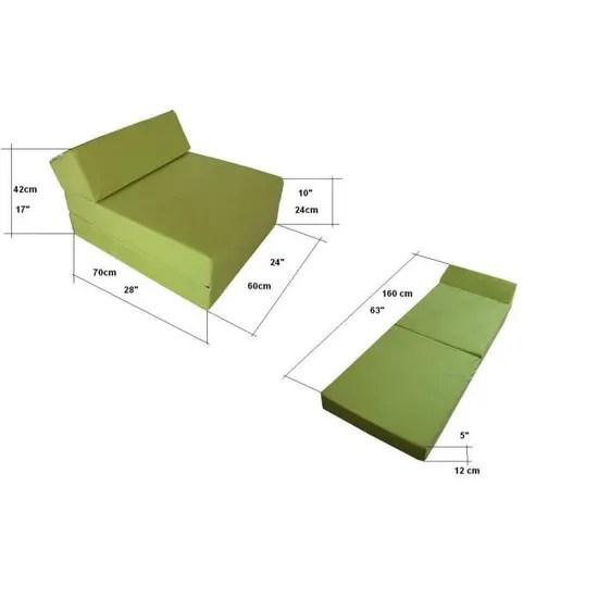 matelas futon lit fauteuil futon pliable pliant choix des couleurs longueur 160 cm