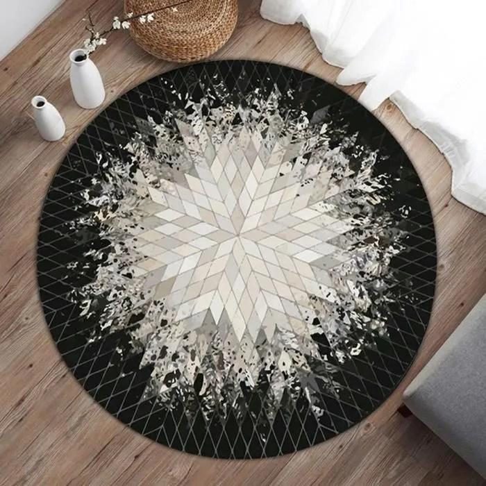 tapis rond antiderapant tapis lavable rotray chamb