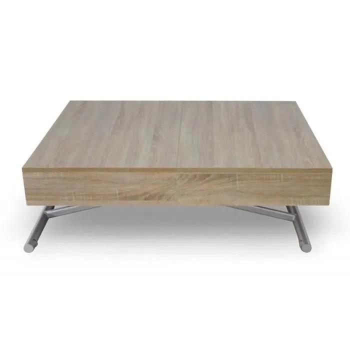 table basse relevable lift 120 190cm