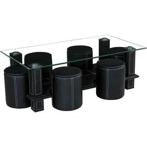 table basse avec pouffe