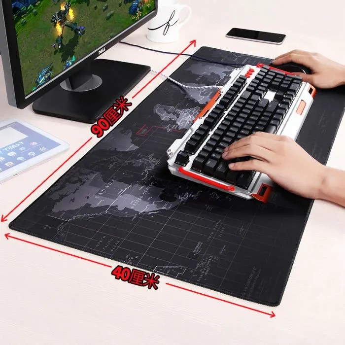 tapis de souris gaming xxl dimension 900x400x4mm b
