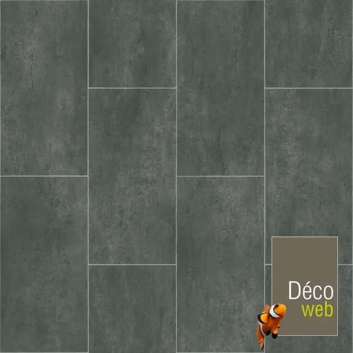 3 x 3m sol pvc best motif carrelage gris fonce marbre
