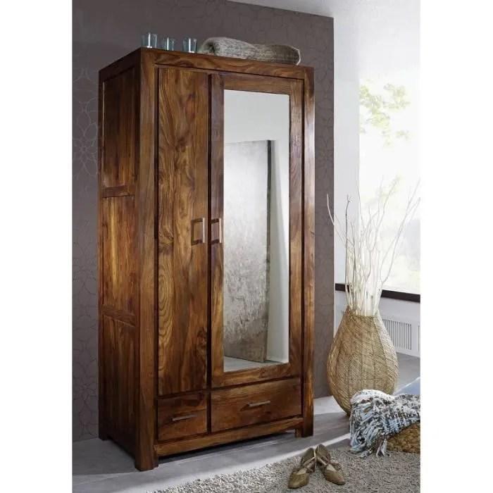 armoire penderie avec miroir bois