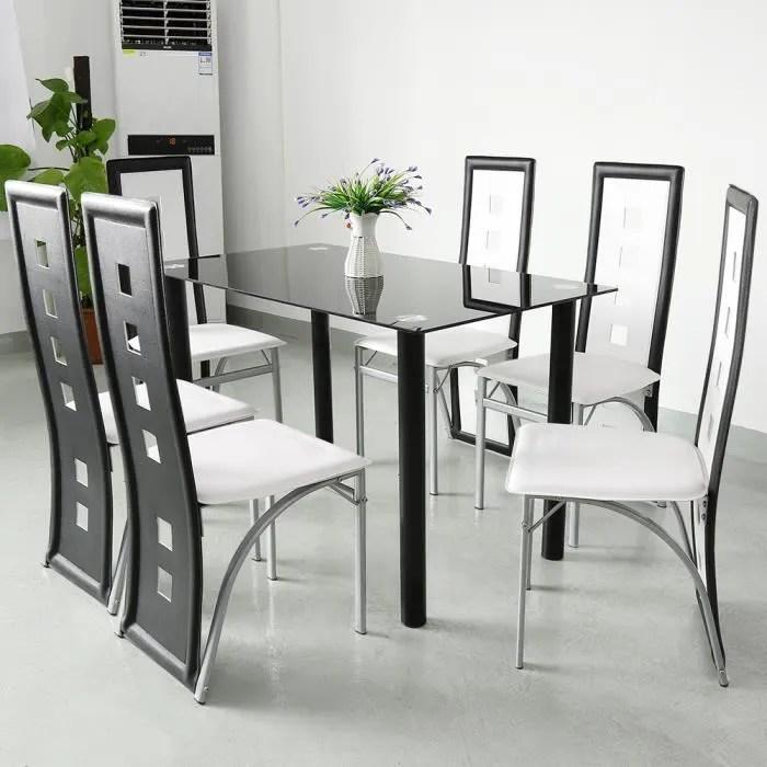 lot de 6 chaises de salle a manger chaise de salon