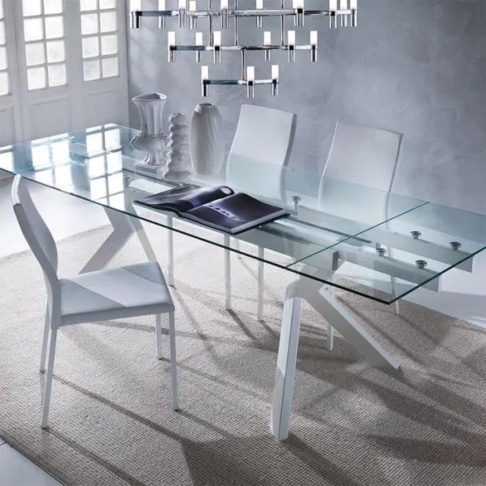 table en verre extensible taupe design