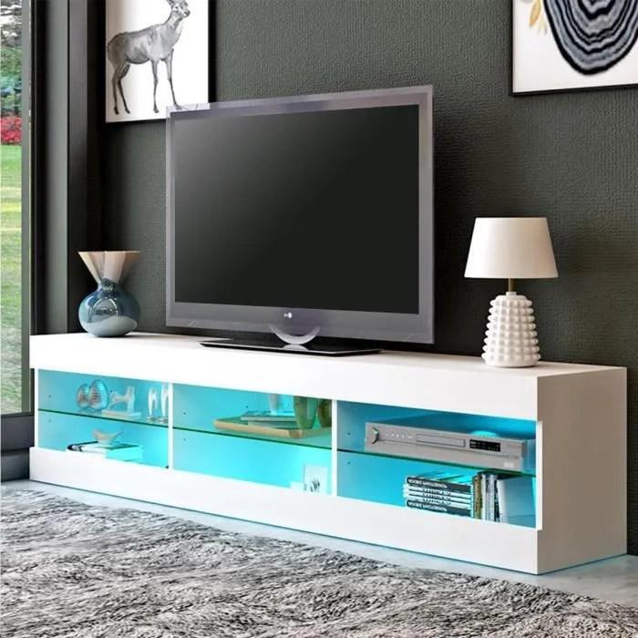 meuble tv led multicolore