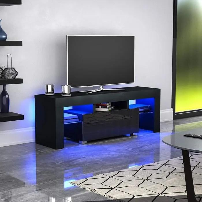 meuble tv banc tv h 130 cm noir