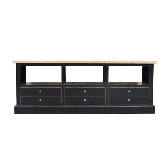 fine asianliving chinois tv armoire placard noir tiroirs moderne