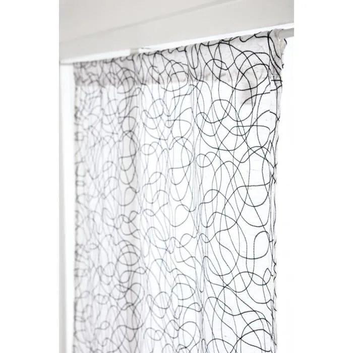 vitrage 90 x 160 cm passe tringle effet naturel gr