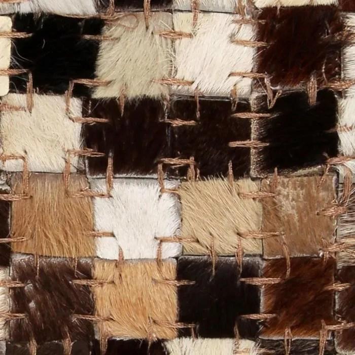 tapis patchwork cuir