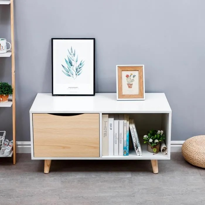 table basse scandinave meuble tv avec grand tir