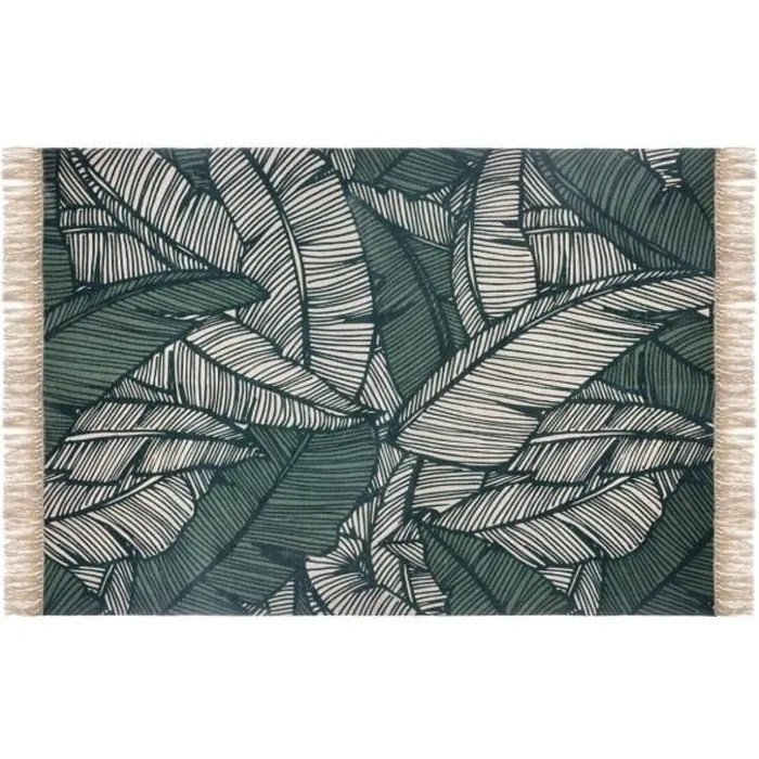atmosphera tapis decoratif en coton 120 x 170 cm